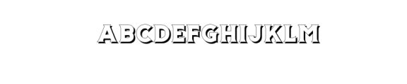 Storehouse Shadow.otf Font UPPERCASE