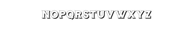 Storehouse Shadow.otf Font LOWERCASE