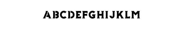 Storehouse Stencil.otf Font UPPERCASE