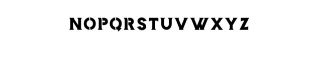 Storehouse Stencil.otf Font LOWERCASE