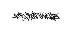 Street Tag vol1.ttf Font UPPERCASE