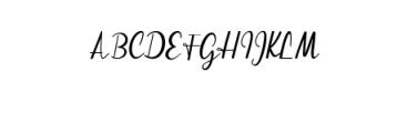 Streetlight Script Font UPPERCASE