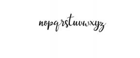 Streetlight Script Font LOWERCASE