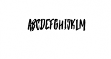 Strenght Regular.ttf Font UPPERCASE