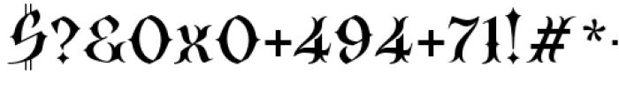 SteamCourt Medium Font OTHER CHARS