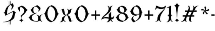 SteamCourt Regular Font OTHER CHARS