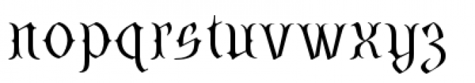 SteamCourt Thin Font LOWERCASE