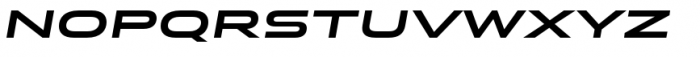 Stereo Gothic 750I Font LOWERCASE
