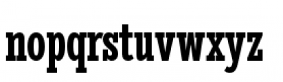 Stint Pro Ultra Condensed Bold Font LOWERCASE