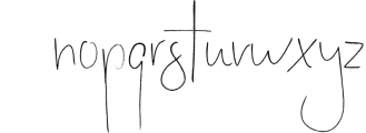 Stay Late - A Handwritten Font Font LOWERCASE