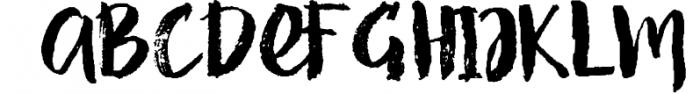 Strenght Script Brush Font UPPERCASE