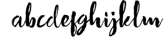 Strenght Script Brush Font LOWERCASE