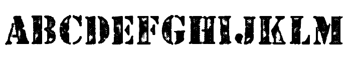 STENCILED PERSONAL USE Regular Font UPPERCASE