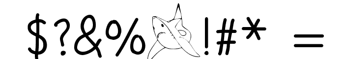 STOP SHARK FINNING Font OTHER CHARS