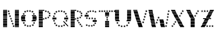 STRIPES & STARS Normal Font UPPERCASE