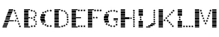 STRIPES & STARS Normal Font LOWERCASE