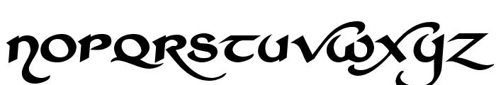 St Charles Extra Dark Font LOWERCASE