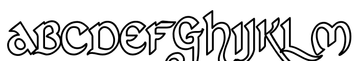 St Charles Hollow Font UPPERCASE