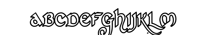St Charles Hollow Font LOWERCASE