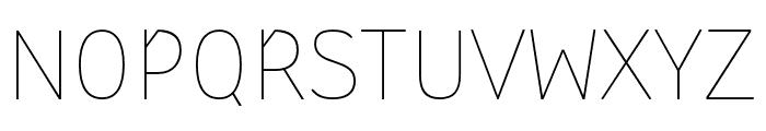 StTransmission-200Thin Font UPPERCASE