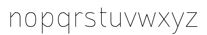 StTransmission-200Thin Font LOWERCASE