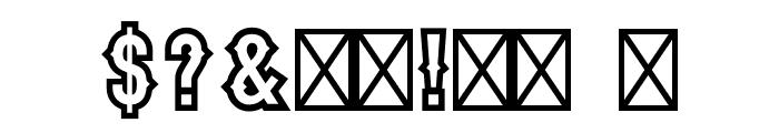 Stadium1956-Regular Font OTHER CHARS