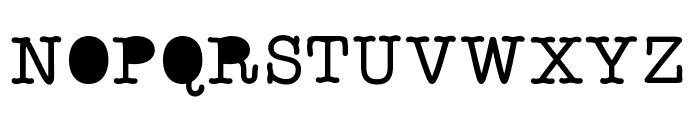 StaffMeeting Font UPPERCASE