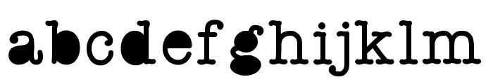 StaffMeeting Font LOWERCASE