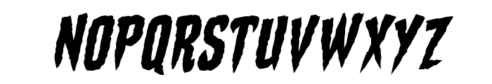 Stake Through the Heart BB Italic Font UPPERCASE