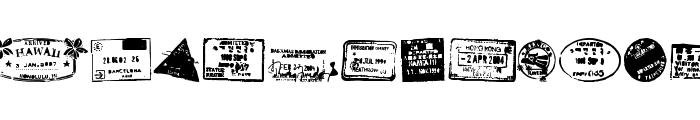 Stamp seal tfb Font UPPERCASE