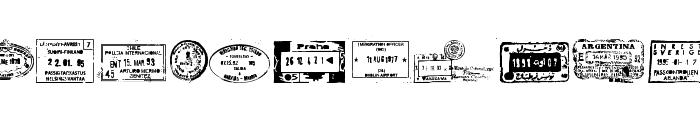 Stamp seal tfb Font LOWERCASE