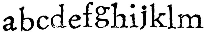 Stamping Nico Font LOWERCASE