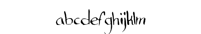 Standard Nib Handwritten Regular Font LOWERCASE