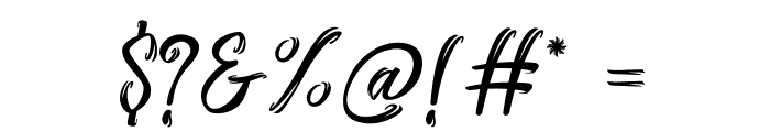 Stanwick Caligraphy Font OTHER CHARS