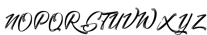 Stanwick Caligraphy Font UPPERCASE