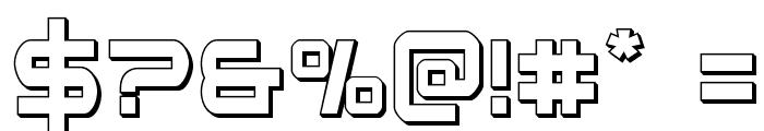 Star Eagle 3D Regular Font OTHER CHARS