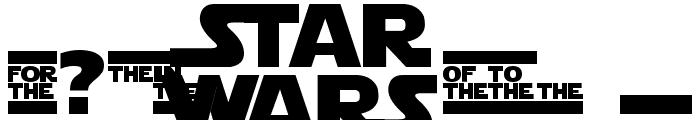 Star Jedi Logo MonoLine Font OTHER CHARS