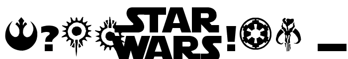 Star Jedi Font OTHER CHARS