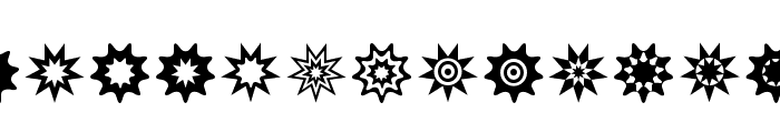 Star Things 3 Font UPPERCASE