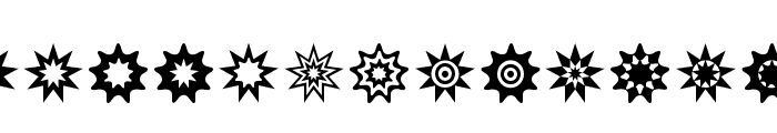 Star Things 3 Font LOWERCASE