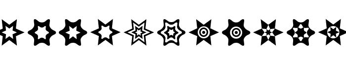 Star Things Font LOWERCASE