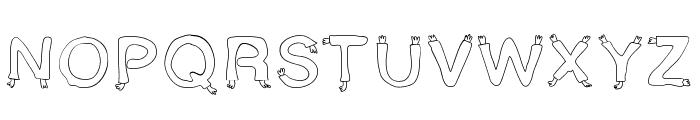Star Font UPPERCASE