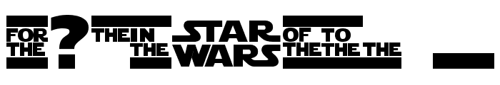 StarJedi Special Edition Font OTHER CHARS