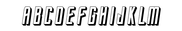 StarTrekEnterpriseFuture-Italic Font UPPERCASE