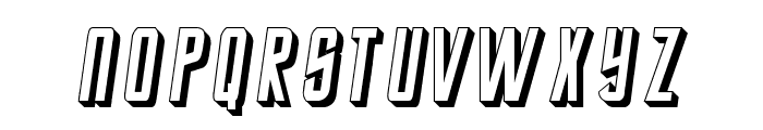 StarTrekEnterpriseFuture-Italic Font LOWERCASE