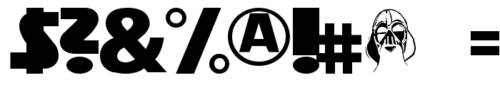 StarVader Font OTHER CHARS