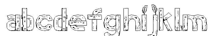 Stardew Valley Regular Font LOWERCASE