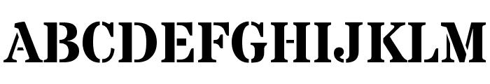 Stardos Stencil Bold Font UPPERCASE