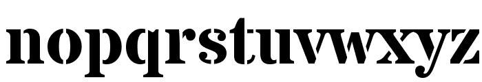 Stardos Stencil Bold Font LOWERCASE