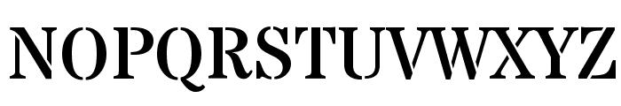 Stardos Stencil Regular Font UPPERCASE